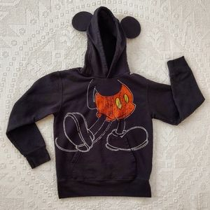 Mickey Mouse Hoodie w/ Ears Black Kangaroo Pocket